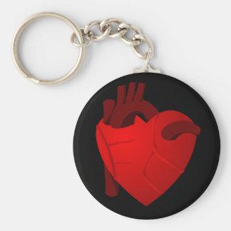 True Heart Basic Round Button Key Ring