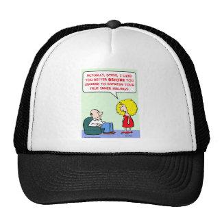 true inner feelings trucker hat