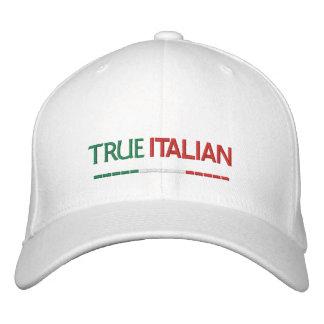 True Italian-Italian Flag Embroidered Cap