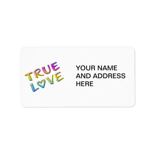 True Love Address Label