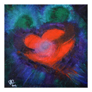 TRUE LOVE Art Print Heart Gift Wall Decor Abstract Photograph