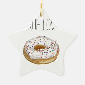 True Love Artsy Cutout Iced Ring Doughnut Christmas Ornament