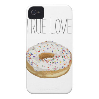 True Love Artsy Cutout Iced Ring Doughnut iPhone 4 Case-Mate Cases