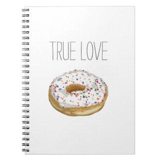 True Love Artsy Cutout Iced Ring Doughnut Notebook