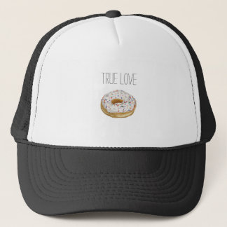 True Love Artsy Cutout Iced Ring Doughnut Trucker Hat