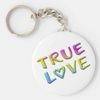 True Love Basic Round Button Key Ring
