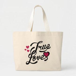 true love canvas bags
