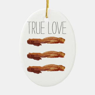 True Love Cut Out Streaky Bacon Artsy Christmas Ornament