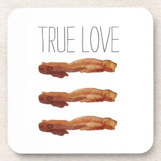 True Love Cut Out Streaky Bacon Artsy Coaster