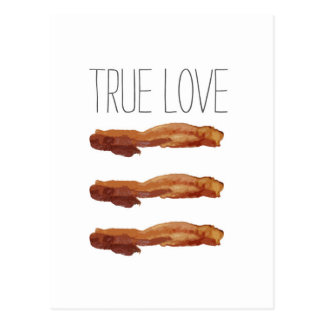 True Love Cut Out Streaky Bacon Artsy Postcard