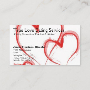 Dating service business cards business card printing zazzle uk true love dating services business card colourmoves