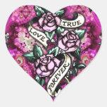 True Love Forever Rockabilly Roses pattern.