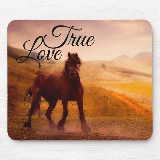 True Love Horse Mouse Mat