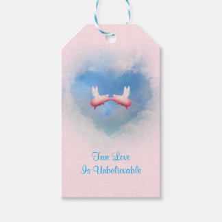 True Love Is Unbelievable-Flying Pigs Kissing Gift Tags