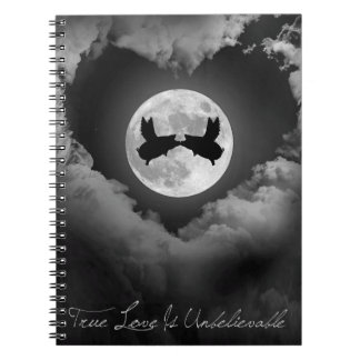 True Love Is Unbelievable-Flying Pigs Kissing Notebooks