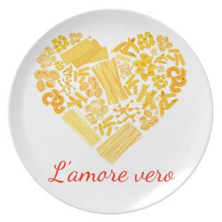 True Love - Italian Pasta Platter Plate
