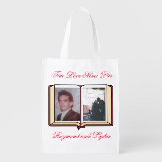 True Love Never Dies Reusable Grocery Bag