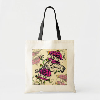 True Love Old school pistol tattoo art. Tote Bag