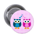 True Love - Owl Cartoon 6 Cm Round Badge
