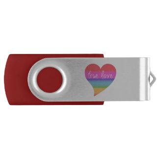 True Love Rainbow Heart Valentine USB Flash Drive