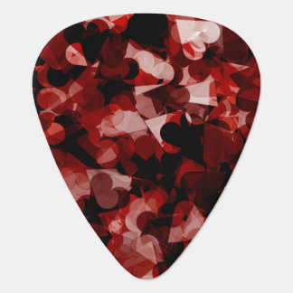 True Love Red Hearts Emotion with Black Pink Color Pick