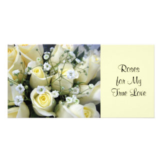 True Love Roses Custom Photo Card