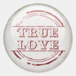 True love round stickers