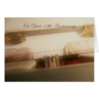 True Love Story 12th Anniversary Card
