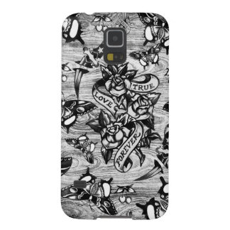 True Love Tattoo art in black and white. Galaxy S5 Cases