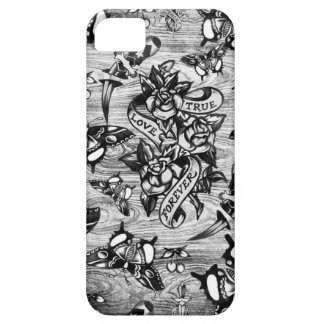 True Love Tattoo art in black and white. iPhone 5 Cases