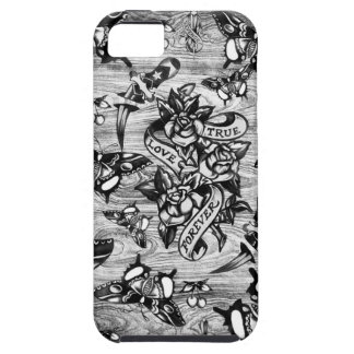True Love Tattoo art in black and white. iPhone 5 Covers