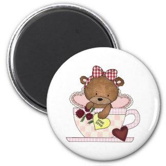 True Love Teddy Bears 6 Cm Round Magnet
