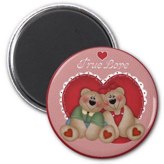 True Love Teddy Bears Valentine's Day Magnet