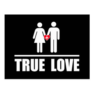 True Love Traditional Marriage Postcard