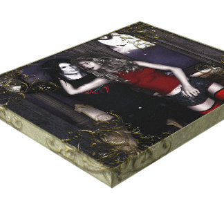 True Love Vampire Goth 3D Wrapped Canvas Stretched Canvas Print