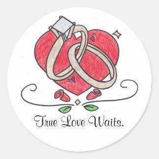 True Love Waits. Classic Round Sticker