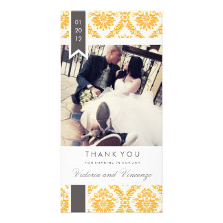 TRUE LOVE   WEDDING THANK YOU PERSONALIZED PHOTO CARD