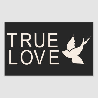 True Love With Dove Pink & Black Wedding Stickers