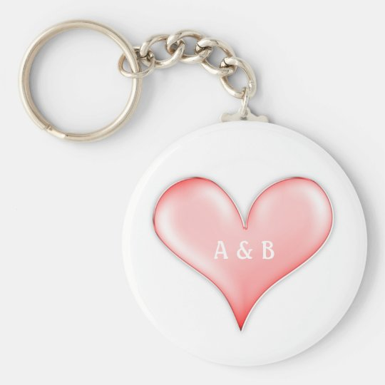 True Love with Your Initials - Keychain