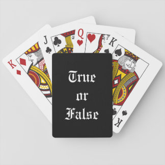True or False Playing Cards, Standard Index faces Playing Cards