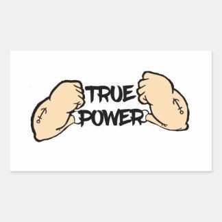 True Power Rectangular Sticker