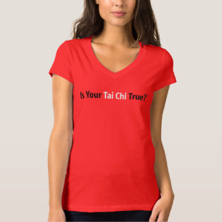 True Tai Chi™ Women's V-Neck T-Shirt (red)