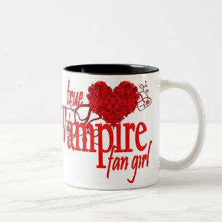 True vampire fan girl Two-Tone coffee mug