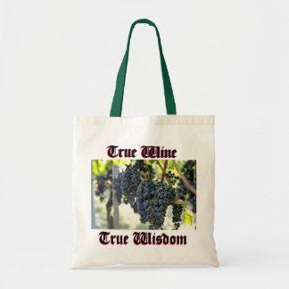 True Wine, true wisdom Tote Bag