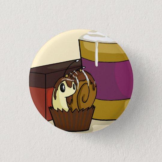 Truffle Snail 3 Cm Round Badge