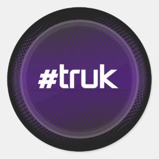 #truk Circle Stickers x6