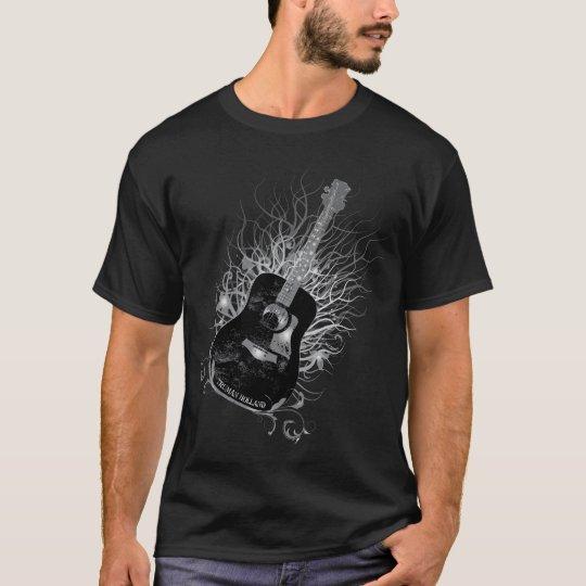 Truman Holland Guitar Tree Diag Mens Black T-Shirt