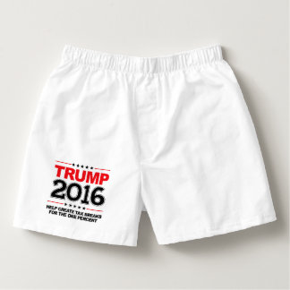 TRUMP 2016 - Create tax breaks for the one percent Boxers