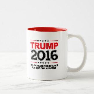 TRUMP 2016 - Create tax breaks for the one percent Two-Tone Mug
