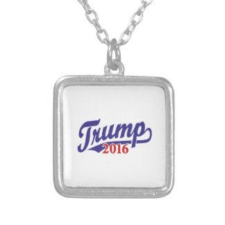 Trump 2016 square pendant necklace